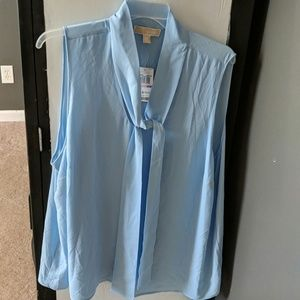 Michael Kors lt blue dress top, sz 22/24W